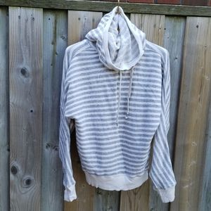TNA grey & white striped hoodie